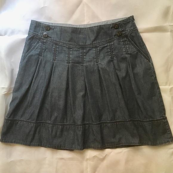 Esprit denim inverted pleat mini skirt
